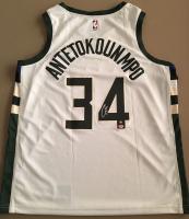 Giannis Antetokounmpo Signed Bucks Jersey (Steiner COA & Antetokounmpo Hologram) at PristineAuction.com