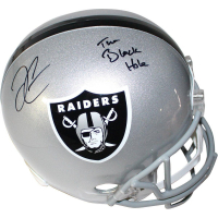 "Derek Carr Signed Raiders Full Size Helmet Inscribed ""The Black Hole"" (Steiner COA)"