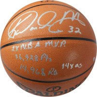 "Karl Malone Signed Spalding Basketball with (5 Career Stat Inscriptions Including ""Mailman"", ""2x NBA MVP"",  ""36,928 Pts"" AS"" (Steiner COA) at PristineAuction.com"
