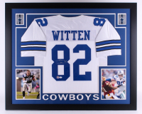 Jason Witten Signed Cowboys 35x43 Custom Framed Jersey (JSA COA & Witten Hologram) at PristineAuction.com
