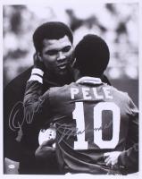 Muhammad Ali & Pele Signed 16x20 Photo (Online Authentics COA & JSA ALOA)