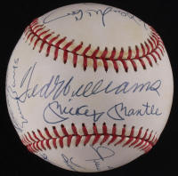500 Home Run Club OAL Baseball Signed by (11) with Mickey Mantle, Ted Williams, Eddie Mathews (JSA LOA)