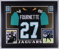 Leonard Fournette Signed Jaguars 35x43 Custom Framed Jersey (JSA COA) at PristineAuction.com
