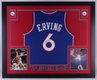 Julius Erving Signed 76ers 35x43 Custom Framed Jersey (JSA COA) at PristineAuction.com