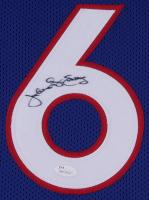 Julius Erving Signed 76ers 35x43 Custom Framed Jersey (JSA COA) at PristineAuction.com