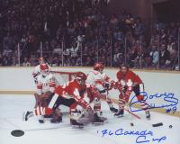 "Bobby Hull Signed Team Canada 8x10 Photo Inscribed ""76 Canada Cup"" (Schwartz COA)"