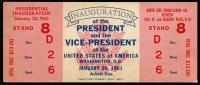 1961 Unused John F. Kennedy Inauguration Ticket