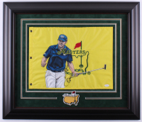 Jordan Spieth Signed 25x29 Custom Framed Hand-Painted Masters Pin Flag Display (JSA LOA)