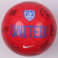 Nike Team USA Soccer Ball signed by (9) Morgan Bryan, Becky Sauerbrunn, Carli Lloyd, & Hope Solo (JSA COA)