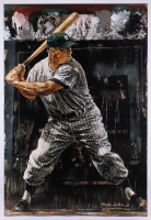 Stephen Holland Signed Mickey Mantle 28x41 Artist Proof Hand Embellished Giclee on Canvas AP #25/56
