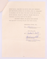 Muhammad Ali & Floyd Patterson Signed 1967 Ancillary Rights Agreement (PSA ALOA)