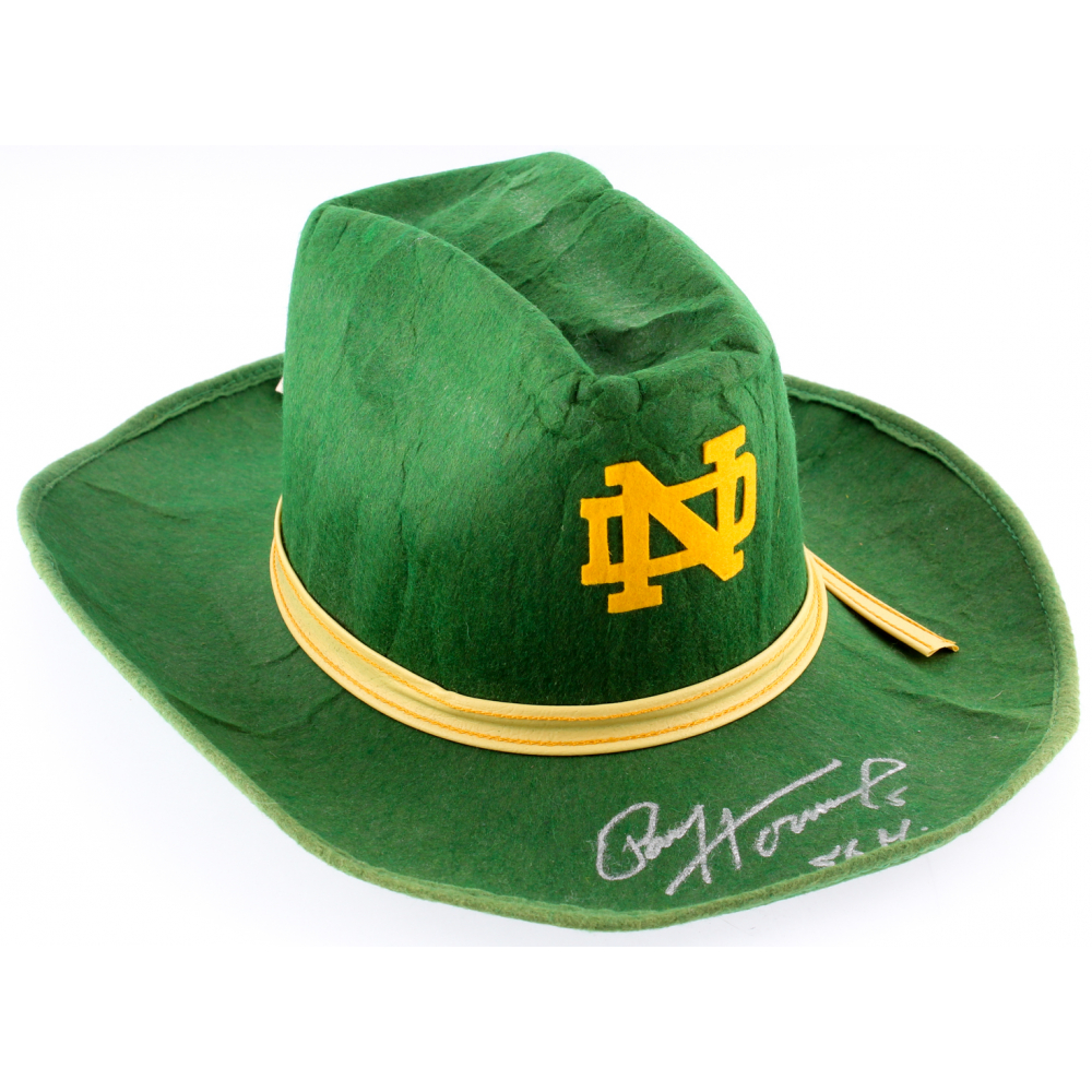 Paul Hornung Signed Notre Dame Fighting Irish Cowboy Hat Inscribed