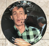 Paul McCartney Signed LE Vinyl Picture Disc (Beckett COA)