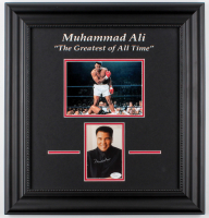 Muhammad Ali Signed 18x19 Custom Framed Photo Display (JSA LOA) at PristineAuction.com