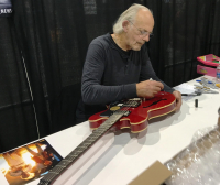 "Michael J. Fox, Christopher Lloyd & Lea Thomson Signed ""Back to the Future"" Full-Size Electric Guitar (PSA COA) at PristineAuction.com"