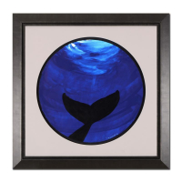 "Wyland Signed ""Whale Tale"" 29x29 Custom Framed Original Watercolor Painting"