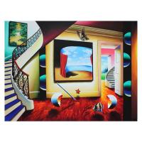 "Ferjo Signed ""Ocean Window"" 40x30 Original Acrylic Painting on Canvas"