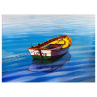 "Orlando Quevedo Signed ""The Love Boat"" 44x31 Original Acrylic Painting on Canvas at PristineAuction.com"
