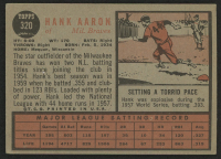 1962 Topps #320 Hank Aaron at PristineAuction.com