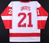 Adam Oates Signed Red Wings Jersey (JSA COA)