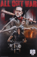 "Jeffrey Dean Morgan & Norman Reedus Signed The Walking Dead ""All Out War"" 24x36 Poster Inscribed ""Negan"" (Radtke COA) at PristineAuction.com"