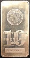 10 oz Bullion .999 Fine Silver Bar at PristineAuction.com