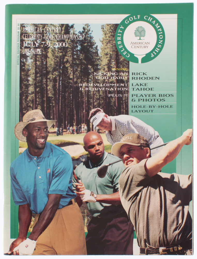 21e6d714233 American Century Celebrity Golf Championship Program Signed by (15) With Michael  Jordan