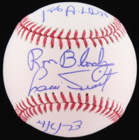 """Ron Bloomberg & Luis Tiant Signed OML Baseball Inscribed """"1st A.L.D.H."""" & """"4/6/73"""" (Tracy Stallard Hologram)"""