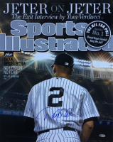"Derek Jeter Signed Yankees ""Sports Illustrated"" 16x20 Photo (Steiner COA) at PristineAuction.com"