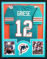 """Bob Griese Signed 34x42 Custom Framed Jersey Inscribed """"HOF 90"""" (Radtke COA) at PristineAuction.com"""