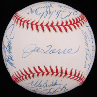 1998 New York Yankees OAL Baseball Team-Signed by (25) Including Derek Jeter, Jorge Posada, Mariano Rivera, Bernie Williams (JSA LOA)