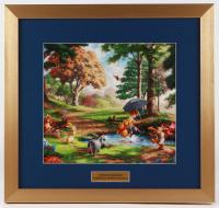 "Thomas Kinkade Walt Disney ""Winnie the Pooh"" 17x18 Custom Framed Print"