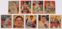 Lot Of (9) 1934-36 Diamond Stars Baseball Cards With #45 Jo Jo White, #47 Cliff Bolton, #59 Jim Bottomley, #42 Jimmy Dykes, #38 Ben Chapman, #76 Bill Rogell