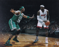 LeBron James Signed LE Heat 16x20 Photo (UDA COA)