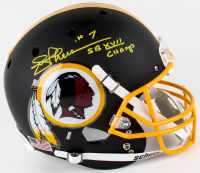 "Joe Theismann Signed Redskins Full-Size Custom Black Matte Helmet Inscribed ""SB XVII CHAMP"" (JSA COA)"