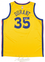 Kevin Durant Signed Golden State Warriors Nike City Edition Jersey (Panini COA) at PristineAuction.com