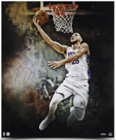 "Ben Simmons Signed Philadelphia 76ers ""Reverse"" 20x24 Photo (UDA COA) at PristineAuction.com"