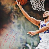 "Ben Simmons Signed Philadelphia 76ers ""Reverse"" 20x24 Photo (UDA COA) at PristineAuction.com"