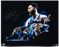 "Ben Simmons Signed Philadelphia 76ers ""Drive"" 24x30 Photo (UDA COA) at PristineAuction.com"