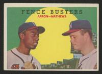 1959 Topps #212 Fence Busters / Hank Aaron / Eddie Mathews