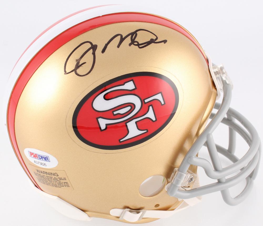9f4795e3f17 Joe Montana Signed 49ers Mini-Helmet with High Quality Display Case (PSA COA )