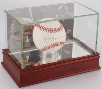 Mickey Mantle Signed OAL Baseball with High Quality Display Case (PSA LOA)