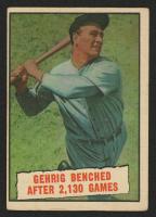 1961 Topps #405 Lou Gehrig Streak