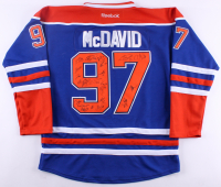 2017-18 Oilers #97 Jersey Team-Signed By (22) With Connor McDavid, Jesse Puljujarvi, Cam Talbot, Anton Slepyshev, Milan Lucic (JSA ALOA)