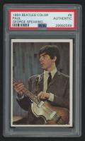 1964 Beatles Color #8 Paul - George Speaking (PSA Authentic)