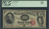 1880 $20 Twenty Dollars Legal Tender Large Bank Note Bill (PCGS 15)
