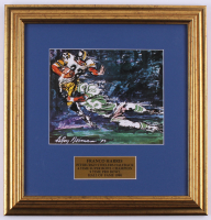 "LeRoy Neiman ""Franco Harris"" 15.5x15.5 Custom Framed Print Display"