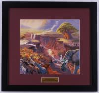 "Thomas Kinkade Walt Disney ""Lion King"" 17x18 Custom Framed Print Display"