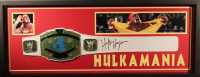 Hulk Hogan Signed 15x39x2 Custom Framed Shadowbox Championship Belt Display (JSA COA)