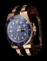 Rolex Submariner Date 18K Gold Watch (New) at PristineAuction.com